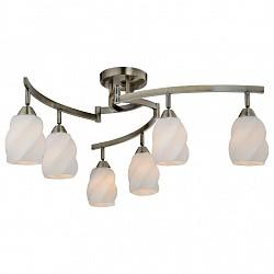Люстра на штанге IDLamp5 или 6 ламп<br>Артикул - ID_869_6PF-oldbronze,Бренд - IDLamp (Италия),Коллекция - 869,Гарантия, месяцы - 24,Высота, мм - 350,Диаметр, мм - 940,Тип лампы - компактная люминесцентная [КЛЛ] ИЛИнакаливания ИЛИсветодиодная [LED],Общее кол-во ламп - 6,Напряжение питания лампы, В - 220,Максимальная мощность лампы, Вт - 60,Лампы в комплекте - отсутствуют,Цвет плафонов и подвесок - белый,Тип поверхности плафонов - глянцевый,Материал плафонов и подвесок - стекло,Цвет арматуры - старая бронза,Тип поверхности арматуры - глянцевый,Материал арматуры - металл,Возможность подлючения диммера - можно, если установить лампу накаливания,Тип цоколя лампы - E14,Класс электробезопасности - I,Общая мощность, Вт - 360,Степень пылевлагозащиты, IP - 20,Диапазон рабочих температур - комнатная температура,Дополнительные параметры - способ крепления светильника к потолку — на монтажной пластине, если Вам нужно повесить светильник на крюк, укажите это в комментарии к заказу, - мы положим в подарок пластину с ушком для крюка<br>