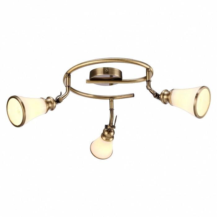 Спот Arte LampСпоты<br>Артикул - AR_A9231PL-3AB,Бренд - Arte Lamp (Италия),Коллекция - Vento,Гарантия, месяцы - 24,Выступ, мм - 250,Диаметр, мм - 580,Тип лампы - компактная люминесцентная [КЛЛ] ИЛИнакаливания ИЛИсветодиодная [LED],Общее кол-во ламп - 3,Напряжение питания лампы, В - 220,Максимальная мощность лампы, Вт - 40,Лампы в комплекте - отсутствуют,Цвет плафонов и подвесок - белый с каймой,Тип поверхности плафонов - матовый,Материал плафонов и подвесок - стекло,Цвет арматуры - бронза античная,Тип поверхности арматуры - матовый,Материал арматуры - металл,Количество плафонов - 3,Возможность подлючения диммера - можно, если установить лампу накаливания,Тип цоколя лампы - E14,Класс электробезопасности - I,Общая мощность, Вт - 120,Степень пылевлагозащиты, IP - 20,Диапазон рабочих температур - комнатная температура,Дополнительные параметры - способ крепления светильника к стене и потолку - на монтажной пластине, повоторный светильник<br>