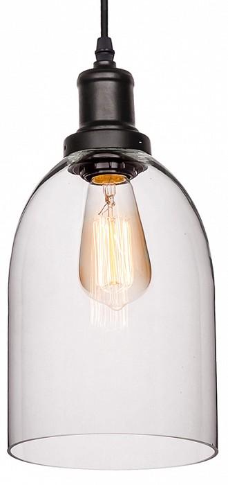 Подвесной светильник Loft itСветодиодные<br>Артикул - LF_LOFT1814,Бренд - Loft it (Испания),Коллекция - 1814,Гарантия, месяцы - 24,Высота, мм - 1500,Диаметр, мм - 160,Тип лампы - компактная люминесцентная [КЛЛ] ИЛИнакаливания ИЛИсветодиодная [LED],Общее кол-во ламп - 1,Напряжение питания лампы, В - 220,Максимальная мощность лампы, Вт - 60,Лампы в комплекте - отсутствуют,Цвет плафонов и подвесок - неокрашенный,Тип поверхности плафонов - прозрачный,Материал плафонов и подвесок - стекло,Цвет арматуры - черный,Тип поверхности арматуры - матовый,Материал арматуры - металл,Количество плафонов - 1,Возможность подлючения диммера - можно, если установить лампу накаливания,Тип цоколя лампы - E27,Класс электробезопасности - I,Степень пылевлагозащиты, IP - 20,Диапазон рабочих температур - комнатная температура,Дополнительные параметры - способ крепления светильника к потолку – на монтажной пластине<br>