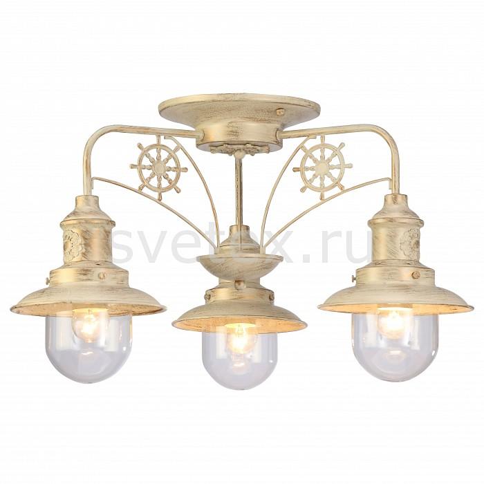 Потолочная люстра Arte LampЛюстры<br>Артикул - AR_A4524PL-3WG,Бренд - Arte Lamp (Италия),Коллекция - Sailor,Гарантия, месяцы - 24,Высота, мм - 340,Диаметр, мм - 600,Размер упаковки, мм - 430x430x200,Тип лампы - компактная люминесцентная [КЛЛ] ИЛИнакаливания ИЛИсветодиодная [LED],Общее кол-во ламп - 3,Напряжение питания лампы, В - 220,Максимальная мощность лампы, Вт - 60,Лампы в комплекте - отсутствуют,Цвет плафонов и подвесок - неокрашенный,Тип поверхности плафонов - прозрачный,Материал плафонов и подвесок - стекло,Цвет арматуры - белый, золото,Тип поверхности арматуры - матовый,Материал арматуры - металл,Количество плафонов - 3,Возможность подлючения диммера - можно, если установить лампу накаливания,Тип цоколя лампы - E27,Класс электробезопасности - I,Общая мощность, Вт - 180,Степень пылевлагозащиты, IP - 20,Диапазон рабочих температур - комнатная температура,Дополнительные параметры - способ крепления светильника к потолку – на монтажной пластине<br>