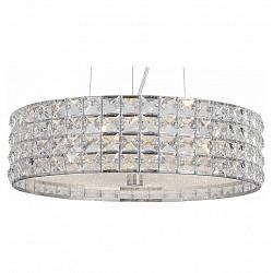 Подвесной светильник ST-LuceС 1 плафоном<br>Артикул - SL752.103.06,Бренд - ST-Luce (Китай),Коллекция - Piatto,Гарантия, месяцы - 24,Высота, мм - 150,Диаметр, мм - 400,Тип лампы - компактная люминесцентная [КЛЛ] ИЛИнакаливания ИЛИсветодиодная [LED],Общее кол-во ламп - 6,Напряжение питания лампы, В - 220,Максимальная мощность лампы, Вт - 40,Лампы в комплекте - отсутствуют,Цвет плафонов и подвесок - неокрашенный,Тип поверхности плафонов - прозрачный,Материал плафонов и подвесок - стекло, хрусталь,Цвет арматуры - хром,Тип поверхности арматуры - глянцевый,Материал арматуры - металл,Возможность подлючения диммера - можно, если установить лампу накаливания,Тип цоколя лампы - E14,Класс электробезопасности - I,Общая мощность, Вт - 240,Степень пылевлагозащиты, IP - 20,Диапазон рабочих температур - комнатная температура,Дополнительные параметры - способ крепления светильника к потолку - на монтажной пластине, регулируется по высоте<br>