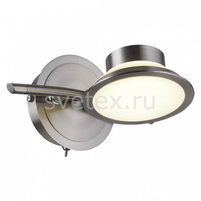 Бра IDLampС 1 лампой<br>Артикул - ID_104_1A-LEDWhitechrome,Бренд - IDLamp (Италия),Коллекция - Simonta,Гарантия, месяцы - 24,Ширина, мм - 210,Высота, мм - 170,Выступ, мм - 105,Тип лампы - светодиодная [LED],Общее кол-во ламп - 1,Напряжение питания лампы, В - 220,Максимальная мощность лампы, Вт - 5,Цвет лампы - белый,Лампы в комплекте - светодиодная [LED],Цвет плафонов и подвесок - белый,Тип поверхности плафонов - матовый,Материал плафонов и подвесок - полимер,Цвет арматуры - хром,Тип поверхности арматуры - глянцевый,Материал арматуры - металл,Количество плафонов - 1,Наличие выключателя, диммера или пульта ДУ - выключатель,Возможность подлючения диммера - нельзя,Цветовая температура, K - 4000 - 4200 K,Световой поток, лм - 500,Экономичнее лампы накаливания - в 10 раз,Светоотдача, лм/Вт - 100,Класс электробезопасности - I,Степень пылевлагозащиты, IP - 20,Диапазон рабочих температур - комнатная температура,Дополнительные параметры - поворотный светильник<br>