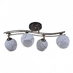 Спот IDLampС 4 лампами<br>Артикул - ID_880_4PF-Darkgold,Бренд - IDLamp (Италия),Коллекция - 880,Гарантия, месяцы - 24,Тип лампы - компактная люминесцентная [КЛЛ] ИЛИнакаливания ИЛИсветодиодная [LED],Общее кол-во ламп - 4,Напряжение питания лампы, В - 220,Максимальная мощность лампы, Вт - 40,Лампы в комплекте - отсутствуют,Цвет плафонов и подвесок - белый с черный рисунком,Тип поверхности плафонов - матовый,Материал плафонов и подвесок - стекло,Цвет арматуры - черный, золото,Тип поверхности арматуры - глянцевый,Материал арматуры - металл,Возможность подлючения диммера - можно, если установить лампу накаливания,Тип цоколя лампы - E27,Общая мощность, Вт - 160,Степень пылевлагозащиты, IP - 20,Диапазон рабочих температур - комнатная температура,Дополнительные параметры - поворотный светильник<br>