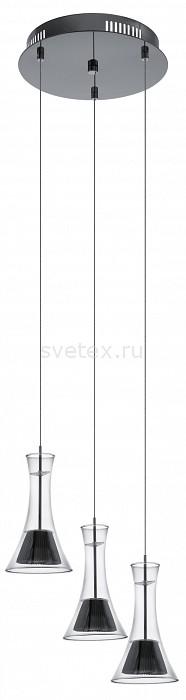 Подвесной светильник EgloСветодиодные<br>Артикул - EG_93795,Бренд - Eglo (Австрия),Коллекция - Musero,Гарантия, месяцы - 60,Время изготовления, дней - 1,Высота, мм - 1100,Диаметр, мм - 350,Тип лампы - светодиодная [LED],Общее кол-во ламп - 3,Напряжение питания лампы, В - 220,Максимальная мощность лампы, Вт - 5.96,Цвет лампы - белый теплый,Лампы в комплекте - светодиодные [LED],Цвет плафонов и подвесок - неокрашенный, черный,Тип поверхности плафонов - матовый, прозрачный,Материал плафонов и подвесок - металл, стекло,Цвет арматуры - черный,Тип поверхности арматуры - матовый,Материал арматуры - сталь,Количество плафонов - 3,Возможность подлючения диммера - нельзя,Цветовая температура, K - 2700 K,Световой поток, лм - 1530,Экономичнее лампы накаливания - в 6, 1 раз,Светоотдача, лм/Вт - 86,Класс электробезопасности - II,Общая мощность, Вт - 17,Степень пылевлагозащиты, IP - 20,Диапазон рабочих температур - комнатная температура<br>