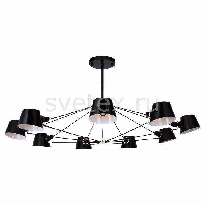 Люстра на штанге FavouriteСветильники<br>Артикул - FV_1512-9P,Бренд - Favourite (Германия),Коллекция - Eimer,Гарантия, месяцы - 24,Высота, мм - 450,Диаметр, мм - 1200,Тип лампы - компактная люминесцентная [КЛЛ] ИЛИнакаливания ИЛИсветодиодная [LED],Общее кол-во ламп - 9,Напряжение питания лампы, В - 220,Максимальная мощность лампы, Вт - 40,Лампы в комплекте - отсутствуют,Цвет плафонов и подвесок - черный,Тип поверхности плафонов - матовый,Материал плафонов и подвесок - металл,Цвет арматуры - черный,Тип поверхности арматуры - матовый,Материал арматуры - металл,Количество плафонов - 9,Возможность подлючения диммера - можно, если установить лампу накаливания,Тип цоколя лампы - E14,Класс электробезопасности - I,Общая мощность, Вт - 360,Степень пылевлагозащиты, IP - 20,Диапазон рабочих температур - комнатная температура,Дополнительные параметры - способ крепления светильника к потолку – на монтажной пластине<br>
