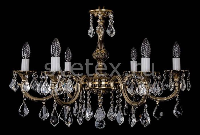 Фото Подвесная люстра Bohemia Ivele Crystal 1702 1702/6/A/GB/Leafs