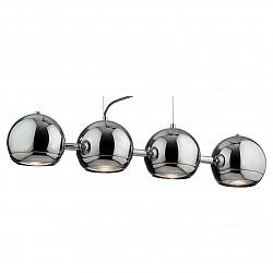 Подвесной светильник ST-LuceБарные<br>Артикул - SL873.103.04,Бренд - ST-Luce (Китай),Коллекция - Nano,Гарантия, месяцы - 24,Высота, мм - 350-1200,Размер упаковки, мм - 800x250x210,Тип лампы - галогеновая,Общее кол-во ламп - 4,Напряжение питания лампы, В - 220,Максимальная мощность лампы, Вт - 75,Лампы в комплекте - галогеновые GU10,Цвет плафонов и подвесок - неокрашенный, хром,Тип поверхности плафонов - глянцевый, прозрачный,Материал плафонов и подвесок - металл, стекло,Цвет арматуры - хром,Тип поверхности арматуры - глянцевый,Материал арматуры - металл,Возможность подлючения диммера - можно,Форма и тип колбы - полусферическа с рефлектором,Тип цоколя лампы - GU10,Класс электробезопасности - I,Общая мощность, Вт - 300,Степень пылевлагозащиты, IP - 20,Диапазон рабочих температур - комнатная температура,Дополнительные параметры - способ крепления светильника к потолку – на монтажной пластине, регулируется по высоте<br>