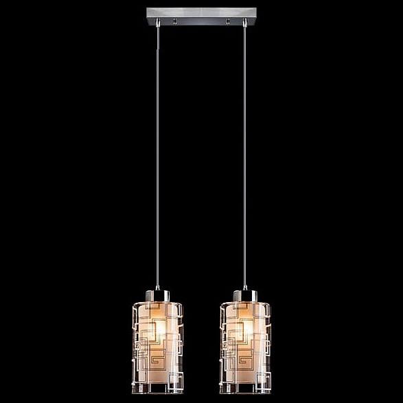 Подвесной светильник EurosvetСветодиодные<br>Артикул - EV_73689,Бренд - Eurosvet (Китай),Коллекция - 50002,Гарантия, месяцы - 24,Длина, мм - 300,Ширина, мм - 120,Высота, мм - 950,Диаметр, мм - 120,Тип лампы - компактная люминесцентная [КЛЛ] ИЛИнакаливания ИЛИсветодиодная [LED],Общее кол-во ламп - 2,Напряжение питания лампы, В - 220,Максимальная мощность лампы, Вт - 60,Лампы в комплекте - отсутствуют,Цвет плафонов и подвесок - белый, неокрашенный с рисунком,Тип поверхности плафонов - матовый, прозрачный,Материал плафонов и подвесок - стекло,Цвет арматуры - хром,Тип поверхности арматуры - глянцевый,Материал арматуры - металл,Количество плафонов - 2,Возможность подлючения диммера - можно, если установить лампу накаливания,Тип цоколя лампы - E27,Класс электробезопасности - I,Общая мощность, Вт - 120,Степень пылевлагозащиты, IP - 20,Диапазон рабочих температур - комнатная температура,Дополнительные параметры - способ крепления светильника к потолку - на монтажной пластине, регулируется по высоте<br>