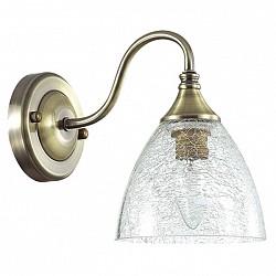 Бра LumionС 1 лампой<br>Артикул - LMN_3132_1W,Бренд - Lumion (Италия),Коллекция - Vivina,Гарантия, месяцы - 24,Высота, мм - 130,Тип лампы - компактная люминесцентная [КЛЛ] ИЛИнакаливания ИЛИсветодиодная [LED],Общее кол-во ламп - 1,Напряжение питания лампы, В - 220,Максимальная мощность лампы, Вт - 40,Лампы в комплекте - отсутствуют,Цвет плафонов и подвесок - неокрашенный с рисунком,Тип поверхности плафонов - прозрачный,Материал плафонов и подвесок - стекло, хрусталь,Цвет арматуры - бронза,Тип поверхности арматуры - матовый, металлик,Материал арматуры - металл,Количество плафонов - 1,Возможность подлючения диммера - можно, если установить лампу накаливания,Тип цоколя лампы - E14,Класс электробезопасности - I,Степень пылевлагозащиты, IP - 20,Диапазон рабочих температур - комнатная температура,Дополнительные параметры - способ крепления светильника на стене – на монтажной пластине, светильник предназначен для использования со скрытой проводкой<br>