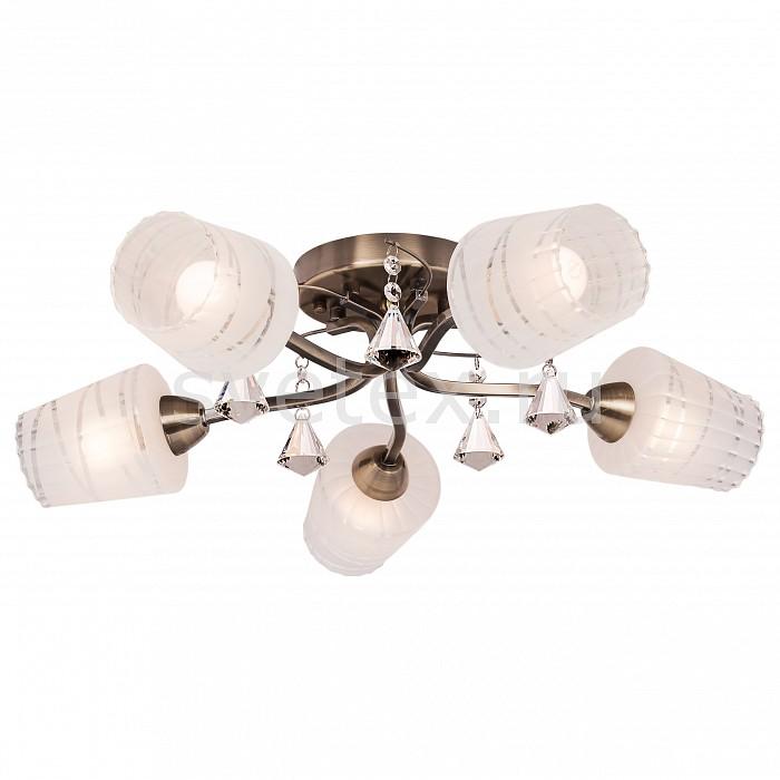 Потолочная люстра SilverLightЛюстра пятирожковая<br>Артикул - SL_208.53.5,Бренд - SilverLight (Франция),Коллекция - Levity,Гарантия, месяцы - 24,Высота, мм - 250,Диаметр, мм - 570,Тип лампы - компактная люминесцентная [КЛЛ] ИЛИнакаливания ИЛИсветодиодная [LED],Общее кол-во ламп - 5,Напряжение питания лампы, В - 220,Максимальная мощность лампы, Вт - 60,Лампы в комплекте - отсутствуют,Цвет плафонов и подвесок - белый полосатый, неокрашенный,Тип поверхности плафонов - матовый, прозрачный,Материал плафонов и подвесок - стекло, хрусталь,Цвет арматуры - бронза,Тип поверхности арматуры - матовый,Материал арматуры - металл,Количество плафонов - 5,Возможность подлючения диммера - можно, если установить лампу накаливания,Тип цоколя лампы - E14,Класс электробезопасности - I,Общая мощность, Вт - 300,Степень пылевлагозащиты, IP - 20,Диапазон рабочих температур - комнатная температура,Дополнительные параметры - способ крепления светильника на потолке - на монтажной пластине<br>