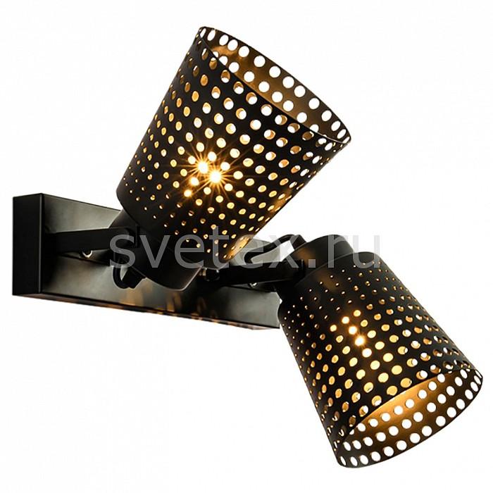 Спот LussoleСпоты<br>Артикул - LSP-9835,Бренд - Lussole (Италия),Коллекция - LSP-983,Гарантия, месяцы - 24,Длина, мм - 320,Ширина, мм - 150,Выступ, мм - 150,Тип лампы - компактная люминесцентная [КЛЛ] ИЛИнакаливания ИЛИсветодиодная [LED],Общее кол-во ламп - 2,Напряжение питания лампы, В - 220,Максимальная мощность лампы, Вт - 60,Лампы в комплекте - отсутствуют,Цвет плафонов и подвесок - черный,Тип поверхности плафонов - матовый,Материал плафонов и подвесок - металл,Цвет арматуры - черный,Тип поверхности арматуры - матовый,Материал арматуры - металл,Количество плафонов - 2,Возможность подлючения диммера - можно, если установить лампу накаливания,Тип цоколя лампы - E27,Класс электробезопасности - I,Общая мощность, Вт - 120,Степень пылевлагозащиты, IP - 20,Диапазон рабочих температур - комнатная температура,Дополнительные параметры - способ крепления светильника к потолку и стене - на монтажной пластине, поворотный светильник<br>