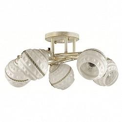 Потолочная люстра Lumion5 или 6 ламп<br>Артикул - LMN_3119_5C,Бренд - Lumion (Италия),Коллекция - Tatina,Гарантия, месяцы - 24,Высота, мм - 210,Диаметр, мм - 480,Размер упаковки, мм - 160x330x460,Тип лампы - компактная люминесцентная [КЛЛ] ИЛИнакаливания ИЛИсветодиодная [LED],Общее кол-во ламп - 5,Напряжение питания лампы, В - 220,Максимальная мощность лампы, Вт - 40,Лампы в комплекте - отсутствуют,Цвет плафонов и подвесок - белый с рисунком, неокрашенный,Тип поверхности плафонов - матовый, прозрачный, рельефный,Материал плафонов и подвесок - стекло, хрусталь,Цвет арматуры - белый с золотой патиной,Тип поверхности арматуры - матовый,Материал арматуры - металл,Возможность подлючения диммера - можно, если установить лампу накаливания,Тип цоколя лампы - E14,Класс электробезопасности - I,Общая мощность, Вт - 200,Степень пылевлагозащиты, IP - 20,Диапазон рабочих температур - комнатная температура,Дополнительные параметры - способ крепления к потолку - на монтажной пластине, поворотный светильник<br>