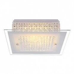 Накладной светильник GloboКвадратные<br>Артикул - GB_49349,Бренд - Globo (Австрия),Коллекция - Heidir,Гарантия, месяцы - 24,Время изготовления, дней - 1,Высота, мм - 80,Тип лампы - светодиодная [LED],Общее кол-во ламп - 1,Напряжение питания лампы, В - 220,Максимальная мощность лампы, Вт - 12,Лампы в комплекте - светодиодная [LED],Цвет плафонов и подвесок - бедый, неокрашенный,Тип поверхности плафонов - матовый, прозрачный,Материал плафонов и подвесок - акрил, кристал K5,Цвет арматуры - хром,Тип поверхности арматуры - глянцевый,Материал арматуры - металл,Возможность подлючения диммера - нельзя,Класс электробезопасности - I,Степень пылевлагозащиты, IP - 20,Диапазон рабочих температур - комнатная температура,Дополнительные параметры - способ крепления светильника к потолку - на монтажной пластине<br>