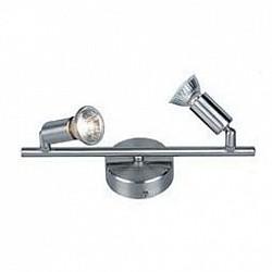 Спот GloboС 2 лампами<br>Артикул - GB_5739-2,Бренд - Globo (Австрия),Коллекция - Hot,Гарантия, месяцы - 24,Размер упаковки, мм - 820x130x210,Тип лампы - галогеновая,Общее кол-во ламп - 2,Напряжение питания лампы, В - 220,Максимальная мощность лампы, Вт - 50,Лампы в комплекте - галогеновые GU10,Цвет арматуры - никель, хром,Тип поверхности арматуры - матовый, глянцевый,Материал арматуры - металл,Возможность подлючения диммера - можно,Форма и тип колбы - полусферическая с рефлектором,Тип цоколя лампы - GU10,Класс электробезопасности - I,Общая мощность, Вт - 100,Степень пылевлагозащиты, IP - 20,Диапазон рабочих температур - комнатная температура,Дополнительные параметры - поворотный светильник<br>