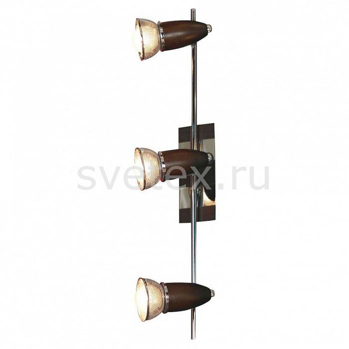 Спот LussoleС 3 лампами<br>Артикул - LSL-8001-03,Бренд - Lussole (Италия),Коллекция - Furnari,Гарантия, месяцы - 24,Время изготовления, дней - 1,Длина, мм - 560,Ширина, мм - 130,Выступ, мм - 170,Тип лампы - компактная люминесцентная [КЛЛ] ИЛИнакаливания ИЛИсветодиодная [LED],Общее кол-во ламп - 3,Напряжение питания лампы, В - 220,Максимальная мощность лампы, Вт - 40,Лампы в комплекте - отсутствуют,Цвет плафонов и подвесок - хром,Тип поверхности плафонов - глянцевый,Материал плафонов и подвесок - металл,Цвет арматуры - коричневый, хром,Тип поверхности арматуры - глянцевый, матовый,Материал арматуры - дерево, металл,Количество плафонов - 3,Возможность подлючения диммера - можно, если установить лампу накаливания,Тип цоколя лампы - E14,Класс электробезопасности - I,Общая мощность, Вт - 120,Степень пылевлагозащиты, IP - 20,Диапазон рабочих температур - комнатная температура,Дополнительные параметры - поворотный светильник<br>