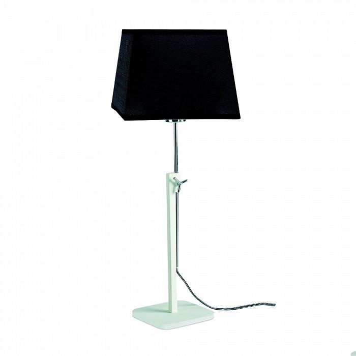 Настольная лампа MantraС абажуром<br>Артикул - MN_5320_5325,Бренд - Mantra (Испания),Коллекция - Habana,Гарантия, месяцы - 24,Ширина, мм - 355,Высота, мм - 1215-1765,Выступ, мм - 355,Тип лампы - компактная люминесцентная [КЛЛ] ИЛИсветодиодная [LED],Общее кол-во ламп - 1,Напряжение питания лампы, В - 220,Максимальная мощность лампы, Вт - 13,Лампы в комплекте - отсутствуют,Цвет плафонов и подвесок - черный,Тип поверхности плафонов - матовый,Материал плафонов и подвесок - текстиль,Цвет арматуры - белый, хром,Тип поверхности арматуры - глянцевый, матовый,Материал арматуры - металл,Количество плафонов - 1,Наличие выключателя, диммера или пульта ДУ - выключатель на проводе,Компоненты, входящие в комплект - провод электропитания с вилкой без заземления,Тип цоколя лампы - E27,Класс электробезопасности - II,Степень пылевлагозащиты, IP - 20,Диапазон рабочих температур - комнатная температура,Дополнительные параметры - регулируется по высоте<br>