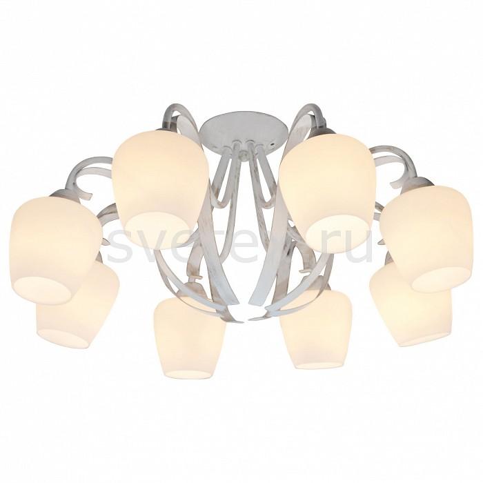 Потолочная люстра LussoleЛюстры<br>Артикул - LSP-9910,Бренд - Lussole (Италия),Коллекция - Aina,Гарантия, месяцы - 24,Высота, мм - 260,Диаметр, мм - 720,Тип лампы - компактная люминесцентная [КЛЛ] ИЛИнакаливания ИЛИсветодиодная [LED],Общее кол-во ламп - 8,Напряжение питания лампы, В - 220,Максимальная мощность лампы, Вт - 60,Лампы в комплекте - отсутствуют,Цвет плафонов и подвесок - белый,Тип поверхности плафонов - матовый,Материал плафонов и подвесок - стекло,Цвет арматуры - белый,Тип поверхности арматуры - матовый,Материал арматуры - металл,Количество плафонов - 1,Возможность подлючения диммера - можно, если установить лампу накаливания,Тип цоколя лампы - E27,Класс электробезопасности - I,Общая мощность, Вт - 480,Степень пылевлагозащиты, IP - 20,Диапазон рабочих температур - комнатная температура,Дополнительные параметры - способ крепления светильника к потолку - на монтажной пластине<br>