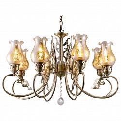 Подвесная люстра Arte LampБолее 6 ламп<br>Артикул - AR_A9561LM-8AB,Бренд - Arte Lamp (Италия),Коллекция - Ballerina,Гарантия, месяцы - 24,Высота, мм - 410-970,Диаметр, мм - 640,Тип лампы - компактная люминесцентная [КЛЛ] ИЛИнакаливания ИЛИсветодиодная [LED],Общее кол-во ламп - 8,Напряжение питания лампы, В - 220,Максимальная мощность лампы, Вт - 40,Лампы в комплекте - отсутствуют,Цвет плафонов и подвесок - неокрашенный, неокрашенный с бронзовым рисунком,Тип поверхности плафонов - прозрачный,Материал плафонов и подвесок - стекло, хрусталь,Цвет арматуры - бронза античная,Тип поверхности арматуры - глянцевый,Материал арматуры - металл,Возможность подлючения диммера - можно, если установить лампу накаливания,Тип цоколя лампы - E14,Класс электробезопасности - I,Общая мощность, Вт - 320,Степень пылевлагозащиты, IP - 20,Диапазон рабочих температур - комнатная температура,Дополнительные параметры - способ крепления светильника к потолку – на монтажной пластине или крюке<br>