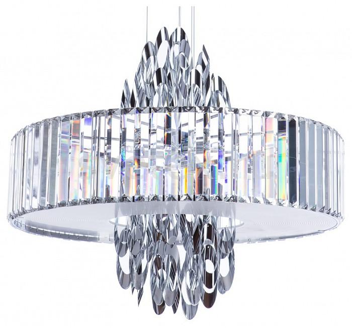Подвесной светильник DivinareПодвесные светильники<br>Артикул - DV_1285_02_SP-6,Бренд - Divinare (Италия),Коллекция - Tiziana,Гарантия, месяцы - 24,Высота, мм - 510-1020,Диаметр, мм - 580,Тип лампы - галогеновая,Общее кол-во ламп - 6,Напряжение питания лампы, В - 220,Максимальная мощность лампы, Вт - 42,Цвет лампы - белый теплый,Лампы в комплекте - галогеновые G9,Цвет плафонов и подвесок - белый, неокрашенный,Тип поверхности плафонов - матовый, прозрачный,Материал плафонов и подвесок - стекло, хрусталь,Цвет арматуры - хром,Тип поверхности арматуры - глянцевый,Материал арматуры - металл,Количество плафонов - 1,Возможность подлючения диммера - можно,Форма и тип колбы - пальчиковая,Тип цоколя лампы - G9,Цветовая температура, K - 2800 - 3200 K,Экономичнее лампы накаливания - на 50%,Класс электробезопасности - I,Общая мощность, Вт - 252,Степень пылевлагозащиты, IP - 20,Диапазон рабочих температур - комнатная температура,Дополнительные параметры - способ крепления светильника к потолку - на монтажной пластине, регулируется по высоте<br>
