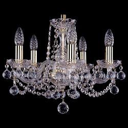 Подвесная люстра Bohemia Ivele Crystal5 или 6 ламп<br>Артикул - BI_1402_5_141_G_Balls,Бренд - Bohemia Ivele Crystal (Чехия),Коллекция - 1402,Гарантия, месяцы - 24,Высота, мм - 340,Диаметр, мм - 440,Размер упаковки, мм - 450x450x200,Тип лампы - компактная люминесцентная [КЛЛ] ИЛИнакаливания ИЛИсветодиодная [LED],Общее кол-во ламп - 5,Напряжение питания лампы, В - 220,Максимальная мощность лампы, Вт - 40,Лампы в комплекте - отсутствуют,Цвет плафонов и подвесок - неокрашенный,Тип поверхности плафонов - прозрачный,Материал плафонов и подвесок - хрусталь,Цвет арматуры - золото, неокрашенный,Тип поверхности арматуры - глянцевый, прозрачный,Материал арматуры - металл, стекло,Возможность подлючения диммера - можно, если установить лампу накаливания,Форма и тип колбы - свеча,Тип цоколя лампы - E14,Класс электробезопасности - I,Общая мощность, Вт - 200,Степень пылевлагозащиты, IP - 20,Диапазон рабочих температур - комнатная температура,Дополнительные параметры - способ крепления светильника к потолку – на крюке<br>