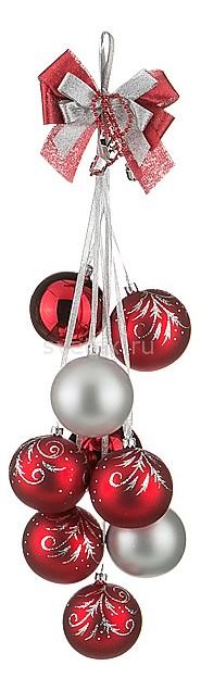 Елочная игрушка АРТИ-МЕлочные игрушки<br>Артикул - art_860-326,Бренд - АРТИ-М (Россия),Коллекция - Фестивальная,Высота, мм - 500,Цвет - красный, серебряный,Материал - стекло<br>