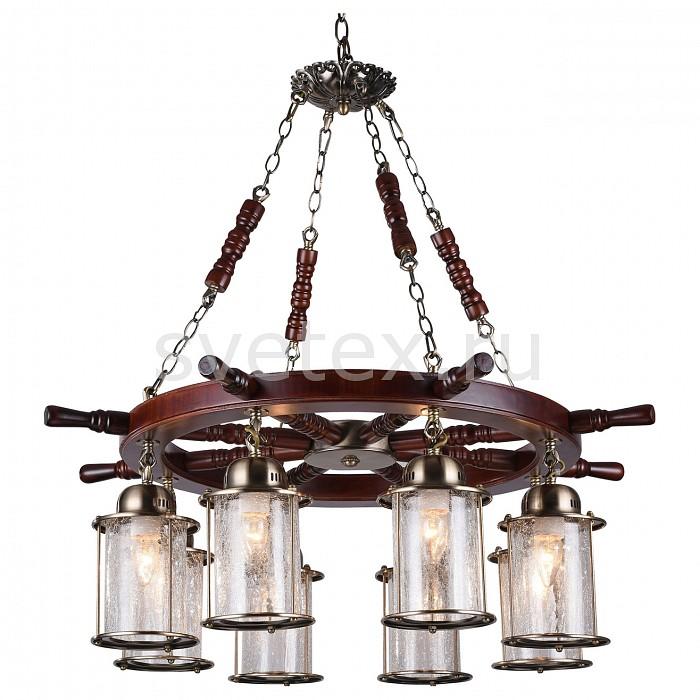 Подвесная люстра ST-LuceДеревянные<br>Артикул - SL150.303.08,Бренд - ST-Luce (Китай),Коллекция - Volantino,Гарантия, месяцы - 24,Высота, мм - 800,Диаметр, мм - 820,Размер упаковки, мм - 640x640x210,Тип лампы - компактная люминесцентная [КЛЛ] ИЛИнакаливания ИЛИсветодиодная [LED],Общее кол-во ламп - 8,Напряжение питания лампы, В - 220,Максимальная мощность лампы, Вт - 40,Лампы в комплекте - отсутствуют,Цвет плафонов и подвесок - неокрашенный,Тип поверхности плафонов - прозрачный,Материал плафонов и подвесок - стекло,Цвет арматуры - бронза, коричневый,Тип поверхности арматуры - матовый,Материал арматуры - дерево, металл,Количество плафонов - 8,Возможность подлючения диммера - можно, если установить лампу накаливания,Тип цоколя лампы - E27,Класс электробезопасности - I,Общая мощность, Вт - 320,Степень пылевлагозащиты, IP - 20,Диапазон рабочих температур - комнатная температура,Дополнительные параметры - способ крепления светильника к потолоку - на крюке, регулируется по высоте, стиль кантри<br>