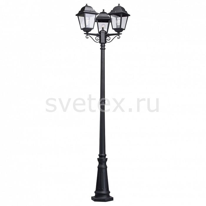 Фонарный столб MW-LightСветильники<br>Артикул - MW_815041203,Бренд - MW-Light (Германия),Коллекция - Глазго 2,Гарантия, месяцы - 24,Время изготовления, дней - 1,Высота, мм - 2350,Тип лампы - компактная люминесцентная [КЛЛ] ИЛИнакаливания ИЛИсветодиодная [LED],Общее кол-во ламп - 3,Напряжение питания лампы, В - 220,Максимальная мощность лампы, Вт - 95,Лампы в комплекте - отсутствуют,Цвет плафонов и подвесок - неокрашенный,Тип поверхности плафонов - прозрачный,Материал плафонов и подвесок - стекло,Цвет арматуры - черный,Тип поверхности арматуры - матовый,Материал арматуры - металл,Количество плафонов - 3,Тип цоколя лампы - E27,Класс электробезопасности - I,Общая мощность, Вт - 285,Степень пылевлагозащиты, IP - 44,Диапазон рабочих температур - от -40^C до +40^C<br>