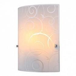 Накладной светильник GloboСветодиодные<br>Артикул - GB_40491-1W,Бренд - Globo (Австрия),Коллекция - Maverick,Гарантия, месяцы - 24,Размер упаковки, мм - 220x95x280,Тип лампы - компактная люминесцентная [КЛЛ] ИЛИнакаливания ИЛИсветодиодная [LED],Общее кол-во ламп - 1,Напряжение питания лампы, В - 220,Максимальная мощность лампы, Вт - 60,Лампы в комплекте - отсутствуют,Цвет плафонов и подвесок - белый с неокрашенным рисунком,Тип поверхности плафонов - матовый,Материал плафонов и подвесок - стекло,Цвет арматуры - хром,Тип поверхности арматуры - глянцевый,Материал арматуры - металл,Возможность подлючения диммера - можно, если установить лампу накаливания,Тип цоколя лампы - E27,Класс электробезопасности - I,Степень пылевлагозащиты, IP - 20,Диапазон рабочих температур - комнатная температура,Дополнительные параметры - способ крепления светильника к стене – на монтажной пластине, светильник предназначен для использования со скрытой проводкой<br>