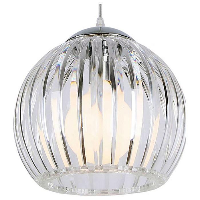 Подвесной светильник LussoleБарные<br>Артикул - LSP-0159,Бренд - Lussole (Италия),Коллекция - 158,Гарантия, месяцы - 24,Высота, мм - 350-1500,Диаметр, мм - 280,Тип лампы - компактная люминесцентная [КЛЛ] ИЛИнакаливания ИЛИсветодиодная [LED],Общее кол-во ламп - 1,Напряжение питания лампы, В - 220,Максимальная мощность лампы, Вт - 60,Лампы в комплекте - отсутствуют,Цвет плафонов и подвесок - неокрашенный,Тип поверхности плафонов - прозрачный, рельефный,Материал плафонов и подвесок - стекло,Цвет арматуры - хром,Тип поверхности арматуры - глянцевый,Материал арматуры - металл,Количество плафонов - 1,Возможность подлючения диммера - можно, если установить лампу накаливания,Тип цоколя лампы - E27,Класс электробезопасности - I,Степень пылевлагозащиты, IP - 20,Диапазон рабочих температур - комнатная температура,Дополнительные параметры - способ крепления светильника к потолку – на монтажной пластине или крюке, регулируется по высоте<br>