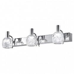 Бра IDLampБолее 1 лампы<br>Артикул - ID_345_3A-Chrome,Бренд - IDLamp (Италия),Коллекция - 345,Время изготовления, дней - 1,Высота, мм - 110,Тип лампы - светодиодная [LED],Общее кол-во ламп - 3,Напряжение питания лампы, В - 220,Максимальная мощность лампы, Вт - 3,Лампы в комплекте - светодиодные [LED],Цвет плафонов и подвесок - неокрашенный,Тип поверхности плафонов - прозрачный, рельефный,Материал плафонов и подвесок - стекло,Цвет арматуры - хром,Тип поверхности арматуры - глянцевый,Материал арматуры - металл,Возможность подлючения диммера - нельзя,Класс электробезопасности - I,Общая мощность, Вт - 9,Степень пылевлагозащиты, IP - 20,Диапазон рабочих температур - комнатная температура,Дополнительные параметры - светильник предназначен для использования со скрытой проводкой, способ крепления светильника к стене – на монтажной пластине<br>
