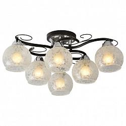 Потолочная люстра IDLamp5 или 6 ламп<br>Артикул - ID_234_6PF-Blackchrome,Бренд - IDLamp (Италия),Коллекция - 234,Высота, мм - 220,Диаметр, мм - 660,Тип лампы - компактная люминесцентная [КЛЛ] ИЛИнакаливания ИЛИсветодиодная [LED],Общее кол-во ламп - 6,Напряжение питания лампы, В - 220,Максимальная мощность лампы, Вт - 60,Лампы в комплекте - отсутствуют,Цвет плафонов и подвесок - белый с рисунком,Тип поверхности плафонов - матовый, прозрачный,Материал плафонов и подвесок - стекло,Цвет арматуры - хром, черный,Тип поверхности арматуры - глянцевый, матовый,Материал арматуры - металл,Возможность подлючения диммера - можно, если установить лампу накаливания,Тип цоколя лампы - E27,Класс электробезопасности - I,Общая мощность, Вт - 360,Степень пылевлагозащиты, IP - 20,Диапазон рабочих температур - комнатная температура,Дополнительные параметры - способ крепления светильника к потолку – на монтажной пластине<br>
