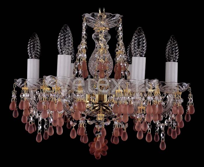 Фото Подвесная люстра Bohemia Ivele Crystal 1410 1410/6/141/G/7010