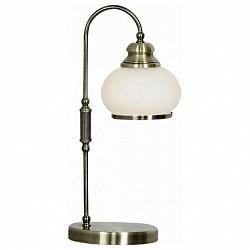 Настольная лампа GloboСтеклянный плафон<br>Артикул - GB_6900-1T,Бренд - Globo (Австрия),Коллекция - Nostalgika,Гарантия, месяцы - 24,Время изготовления, дней - 1,Высота, мм - 400,Диаметр, мм - 180,Размер упаковки, мм - 445x175x175,Тип лампы - компактная люминесцентная [КЛЛ] ИЛИнакаливания ИЛИсветодиодная [LED],Общее кол-во ламп - 1,Напряжение питания лампы, В - 220,Максимальная мощность лампы, Вт - 40,Лампы в комплекте - отсутствуют,Цвет плафонов и подвесок - опал с каймой,Тип поверхности плафонов - матовый,Материал плафонов и подвесок - стекло,Цвет арматуры - латунь античная,Тип поверхности арматуры - глянцевый,Материал арматуры - металл,Тип цоколя лампы - E14,Класс электробезопасности - II,Степень пылевлагозащиты, IP - 20,Диапазон рабочих температур - комнатная температура<br>