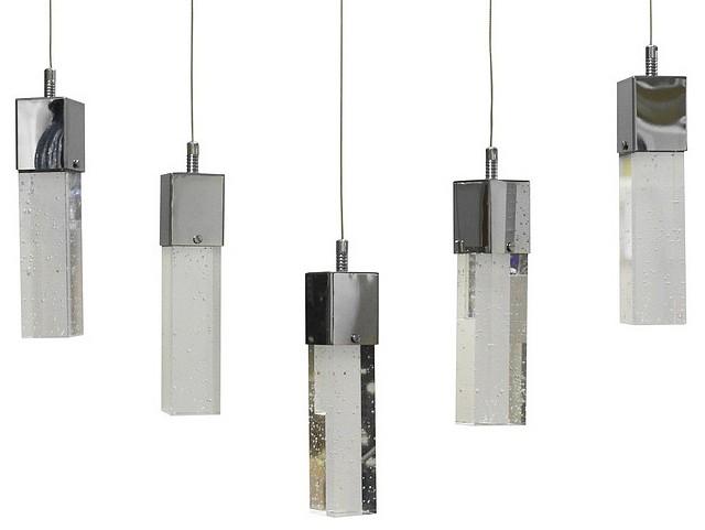 Подвесной светильник Kink LightСветодиодные<br>Артикул - KL_6110-5AS.LED,Бренд - Kink Light (Китай),Коллекция - Аква,Гарантия, месяцы - 24,Длина, мм - 650,Ширина, мм - 70,Высота, мм - 1300,Тип лампы - светодиодная [LED],Общее кол-во ламп - 5,Напряжение питания лампы, В - 220,Максимальная мощность лампы, Вт - 5,Цвет лампы - белый,Лампы в комплекте - светодиодные [LED],Цвет плафонов и подвесок - неокрашенный,Тип поверхности плафонов - прозрачная,Материал плафонов и подвесок - стекло,Цвет арматуры - хром,Тип поверхности арматуры - глянцевый,Материал арматуры - металл,Количество плафонов - 5,Возможность подлючения диммера - нельзя,Цветовая температура, K - 4000 K,Световой поток, лм - 1250,Экономичнее лампы накаливания - в 4.1 раза,Светоотдача, лм/Вт - 50,Класс электробезопасности - I,Общая мощность, Вт - 25,Степень пылевлагозащиты, IP - 20,Диапазон рабочих температур - комнатная температура,Дополнительные параметры - способ крепления светильника к потолку - на монжатной пластине, регулируется по высоте<br>