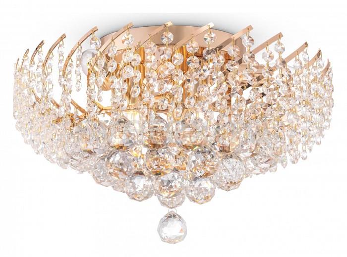 Потолочная люстра Maytoni5 или 6 ламп<br>Артикул - MY_DIA120-06-G,Бренд - Maytoni (Германия),Коллекция - Karolina,Гарантия, месяцы - 24,Высота, мм - 240,Диаметр, мм - 410,Тип лампы - компактная люминесцентная [КЛЛ] ИЛИнакаливания ИЛИсветодиодная [LED],Общее кол-во ламп - 6,Напряжение питания лампы, В - 220,Максимальная мощность лампы, Вт - 60,Лампы в комплекте - отсутствуют,Цвет плафонов и подвесок - неокрашенный,Тип поверхности плафонов - прозрачный,Материал плафонов и подвесок - хрусталь,Цвет арматуры - золото,Тип поверхности арматуры - матовый,Материал арматуры - металл,Возможность подлючения диммера - можно, если установить лампу накаливания,Тип цоколя лампы - E27,Класс электробезопасности - I,Общая мощность, Вт - 360,Степень пылевлагозащиты, IP - 20,Диапазон рабочих температур - комнатная температура,Дополнительные параметры - способ крепления светильника к потолку – на монтажной пластине<br>