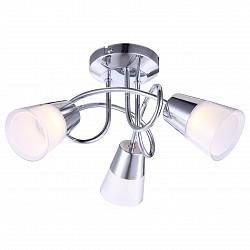 Потолочная люстра GloboПолимерные плафоны<br>Артикул - GB_56185-3D,Бренд - Globo (Австрия),Коллекция - Tieka,Гарантия, месяцы - 24,Высота, мм - 180,Диаметр, мм - 330,Тип лампы - светодиодная [LED],Общее кол-во ламп - 3,Напряжение питания лампы, В - 20,Максимальная мощность лампы, Вт - 3,Лампы в комплекте - светодиодные [LED],Цвет плафонов и подвесок - белый, неокрашенный,Тип поверхности плафонов - матовый, прозрачный,Материал плафонов и подвесок - полимер,Цвет арматуры - хром,Тип поверхности арматуры - глянцевый,Материал арматуры - металл,Количество плафонов - 3,Возможность подлючения диммера - нельзя,Класс электробезопасности - I,Общая мощность, Вт - 9,Степень пылевлагозащиты, IP - 20,Диапазон рабочих температур - комнатная температура,Дополнительные параметры - способ крепления светильника к потолку - на монтажной пластине<br>
