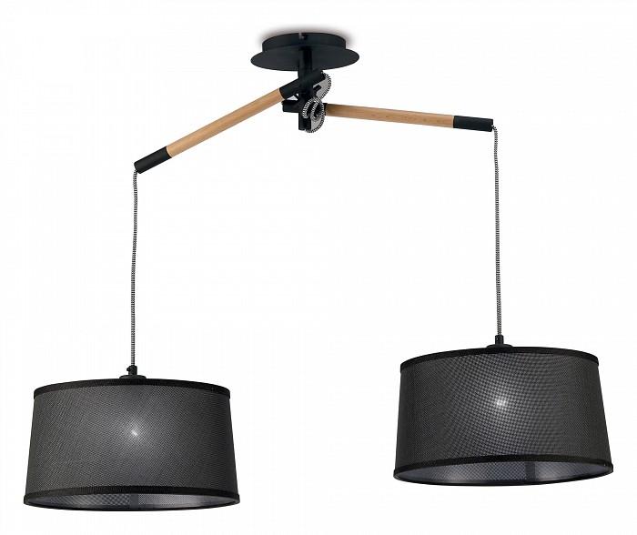 Подвесной светильник MantraБарные<br>Артикул - MN_4931,Бренд - Mantra (Испания),Коллекция - Nordica,Гарантия, месяцы - 24,Длина, мм - 854,Ширина, мм - 330,Высота, мм - 440-1300,Тип лампы - компактная люминесцентная [КЛЛ] ИЛИсветодиодная [LED],Общее кол-во ламп - 2,Напряжение питания лампы, В - 220,Максимальная мощность лампы, Вт - 23,Лампы в комплекте - отсутствуют,Цвет плафонов и подвесок - черный,Тип поверхности плафонов - матовый,Материал плафонов и подвесок - текстиль,Цвет арматуры - коричневый, черный,Тип поверхности арматуры - матовый,Материал арматуры - дерево, металл,Количество плафонов - 2,Возможность подлючения диммера - можно, если установить лампу накаливания,Тип цоколя лампы - E27,Класс электробезопасности - II,Общая мощность, Вт - 46,Степень пылевлагозащиты, IP - 20,Диапазон рабочих температур - комнатная температура,Дополнительные параметры - способ крепления светильника к потолку - на монтажной пластине, регулируется по высоте<br>
