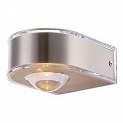 Накладной светильник GloboС 1 плафоном<br>Артикул - GB_34179,Бренд - Globo (Австрия),Коллекция - Dek,Гарантия, месяцы - 24,Размер упаковки, мм - 115x115x145,Тип лампы - светодиодная [LED],Общее кол-во ламп - 1,Напряжение питания лампы, В - 6,Максимальная мощность лампы, Вт - 3.5,Лампы в комплекте - светодиодная [LED],Цвет плафонов и подвесок - неокрашенный, никель,Тип поверхности плафонов - прозрачный, сатин,Материал плафонов и подвесок - полимер, сталь нержавеющая,Цвет арматуры - металл,Тип поверхности арматуры - сатин,Материал арматуры - сталь нержавеющая,Класс электробезопасности - I,Степень пылевлагозащиты, IP - 44,Диапазон рабочих температур - от -40^C до +40^C,Дополнительные параметры - способ крепления светильника к стене – на монтажной пластине, светильник предназначен для использования со скрытой проводкой<br>