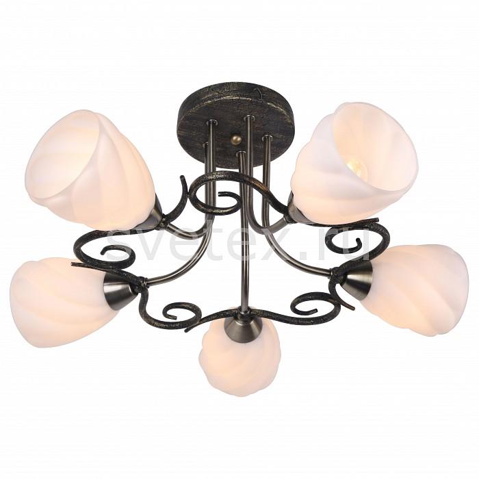 Потолочная люстра Arte LampЛюстры<br>Артикул - AR_A6253PL-5BA,Бренд - Arte Lamp (Италия),Коллекция - Swirls,Гарантия, месяцы - 24,Высота, мм - 260,Диаметр, мм - 550,Размер упаковки, мм - 370x340x165,Тип лампы - компактная люминесцентная [КЛЛ] ИЛИнакаливания ИЛИсветодиодная [LED],Общее кол-во ламп - 5,Напряжение питания лампы, В - 220,Максимальная мощность лампы, Вт - 40,Лампы в комплекте - отсутствуют,Цвет плафонов и подвесок - белый,Тип поверхности плафонов - матовый, рельефный,Материал плафонов и подвесок - стекло,Цвет арматуры - черный античный,Тип поверхности арматуры - матовый,Материал арматуры - металл,Количество плафонов - 5,Возможность подлючения диммера - можно, если установить лампу накаливания,Тип цоколя лампы - E14,Класс электробезопасности - I,Общая мощность, Вт - 200,Степень пылевлагозащиты, IP - 20,Диапазон рабочих температур - комнатная температура,Дополнительные параметры - способ крепления светильника к потолку – на монтажной пластине<br>