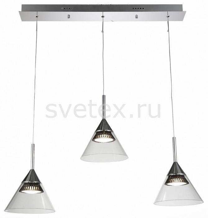 Подвесной светильник ST-LuceДля кухни<br>Артикул - SL930.103.03,Бренд - ST-Luce (Китай),Коллекция - SL930,Гарантия, месяцы - 24,Время изготовления, дней - 1,Длина, мм - 750,Ширина, мм - 190,Высота, мм - 1300,Размер упаковки, мм - 710х310х210,Тип лампы - светодиодная [LED],Общее кол-во ламп - 3,Напряжение питания лампы, В - 220,Максимальная мощность лампы, Вт - 7.2,Лампы в комплекте - светодиодные [LED],Цвет плафонов и подвесок - неокрашенный,Тип поверхности плафонов - прозрачный,Материал плафонов и подвесок - стекло,Цвет арматуры - хром,Тип поверхности арматуры - глянцевый,Материал арматуры - металл,Количество плафонов - 3,Возможность подлючения диммера - нельзя,Экономичнее лампы накаливания - в 10 раз,Класс электробезопасности - I,Общая мощность, Вт - 21,Степень пылевлагозащиты, IP - 20,Диапазон рабочих температур - комнатная температура,Дополнительные параметры - регулируется по высоте, способ крепления светильника к потолку – на монтажной пластине<br>