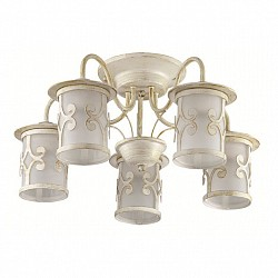 Потолочная люстра Lumion5 или 6 ламп<br>Артикул - LMN_3125_5C,Бренд - Lumion (Италия),Коллекция - Sekvana,Гарантия, месяцы - 24,Высота, мм - 255,Диаметр, мм - 540,Размер упаковки, мм - 230x420x350,Тип лампы - компактная люминесцентная [КЛЛ] ИЛИнакаливания ИЛИсветодиодная [LED],Общее кол-во ламп - 5,Напряжение питания лампы, В - 220,Максимальная мощность лампы, Вт - 40,Лампы в комплекте - отсутствуют,Цвет плафонов и подвесок - белый с белыми рисунком,Тип поверхности плафонов - матовый,Материал плафонов и подвесок - металл, стекло,Цвет арматуры - белый с золотой патиной,Тип поверхности арматуры - матовый,Материал арматуры - металл,Возможность подлючения диммера - можно, если установить лампу накаливания,Тип цоколя лампы - E27,Класс электробезопасности - I,Общая мощность, Вт - 200,Степень пылевлагозащиты, IP - 20,Диапазон рабочих температур - комнатная температура,Дополнительные параметры - способ крепления к потолку - на монтажной пластине<br>