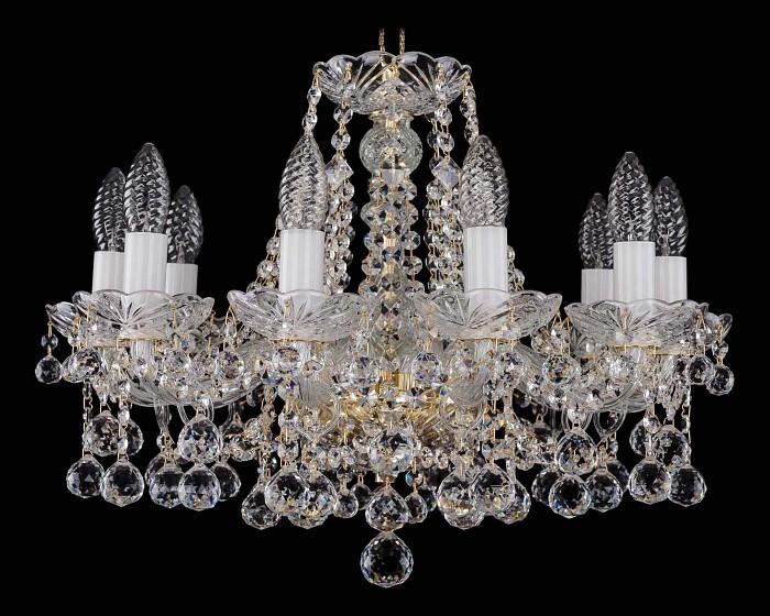 Фото Подвесная люстра Bohemia Ivele Crystal 1413 1413/10/165/G/Balls