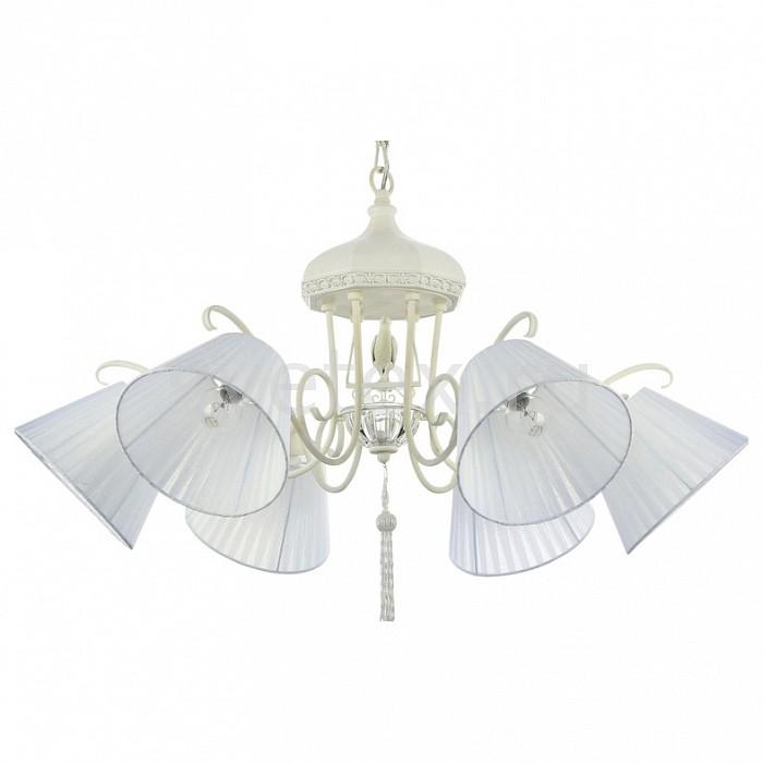 Подвесная люстра MaytoniСветильники<br>Артикул - MY_ARM031-06-W,Бренд - Maytoni (Германия),Коллекция - Cella,Гарантия, месяцы - 24,Высота, мм - 890-1360,Диаметр, мм - 830,Тип лампы - компактная люминесцентная [КЛЛ] ИЛИнакаливания ИЛИсветодиодная [LED],Общее кол-во ламп - 6,Напряжение питания лампы, В - 220,Максимальная мощность лампы, Вт - 40,Лампы в комплекте - отсутствуют,Цвет плафонов и подвесок - белый,Тип поверхности плафонов - матовый,Материал плафонов и подвесок - текстиль,Цвет арматуры - белый,Тип поверхности арматуры - матовый,Материал арматуры - металл,Количество плафонов - 6,Возможность подлючения диммера - можно, если установить лампу накаливания,Тип цоколя лампы - E14,Класс электробезопасности - I,Общая мощность, Вт - 240,Степень пылевлагозащиты, IP - 20,Диапазон рабочих температур - комнатная температура,Дополнительные параметры - способ крепления светильника к потолку - на крюке, регулируется по высоте, светильник декорирован декоративными элементами в виде птицы и кисти<br>