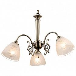 Подвесная люстра GloboНе более 4 ламп<br>Артикул - GB_69013-3H,Бренд - Globo (Австрия),Коллекция - Tialda,Гарантия, месяцы - 24,Высота, мм - 890,Диаметр, мм - 600,Размер упаковки, мм - 410х360х200,Тип лампы - компактная люминесцентная [КЛЛ] ИЛИнакаливания ИЛИсветодиодная [LED],Общее кол-во ламп - 3,Напряжение питания лампы, В - 220,Максимальная мощность лампы, Вт - 60,Лампы в комплекте - отсутствуют,Цвет плафонов и подвесок - белый с рисунком и каймой,Тип поверхности плафонов - матовый,Материал плафонов и подвесок - стекло,Цвет арматуры - бронза,Тип поверхности арматуры - матовый,Материал арматуры - металл,Возможность подлючения диммера - можно, если установить лампу накаливания,Тип цоколя лампы - E14,Класс электробезопасности - I,Общая мощность, Вт - 180,Степень пылевлагозащиты, IP - 20,Диапазон рабочих температур - комнатная температура,Дополнительные параметры - регулируется по высоте, способ крепления светильника к потолку – на крюке<br>