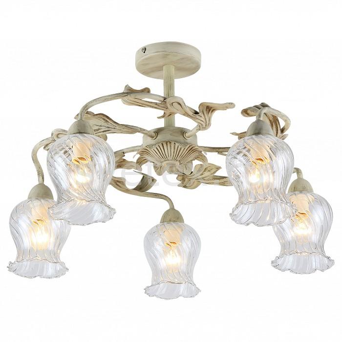 Люстра на штанге FavouriteЛюстры<br>Артикул - FV_1613-5U,Бренд - Favourite (Германия),Коллекция - Fleur,Гарантия, месяцы - 24,Высота, мм - 340,Диаметр, мм - 520,Тип лампы - компактная люминесцентная [КЛЛ] ИЛИнакаливания ИЛИсветодиодная [LED],Общее кол-во ламп - 5,Напряжение питания лампы, В - 220,Максимальная мощность лампы, Вт - 40,Лампы в комплекте - отсутствуют,Цвет плафонов и подвесок - неокрашенный,Тип поверхности плафонов - прозрачный, рельефный,Материал плафонов и подвесок - стекло,Цвет арматуры - бежевый с патиной,Тип поверхности арматуры - матовый,Материал арматуры - металл,Количество плафонов - 5,Возможность подлючения диммера - можно, если установить лампу накаливания,Тип цоколя лампы - E14,Класс электробезопасности - I,Общая мощность, Вт - 200,Степень пылевлагозащиты, IP - 20,Диапазон рабочих температур - комнатная температура,Дополнительные параметры - способ крепления к потолку - на монтажной пластине<br>