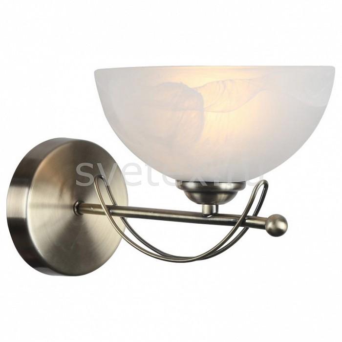 Бра Arte LampНастенные светильники<br>Артикул - AR_A8615AP-1AB,Бренд - Arte Lamp (Италия),Коллекция - Ninna,Гарантия, месяцы - 24,Ширина, мм - 180,Высота, мм - 250,Выступ, мм - 300,Тип лампы - компактная люминесцентная [КЛЛ] ИЛИнакаливания ИЛИсветодиодная [LED],Общее кол-во ламп - 1,Напряжение питания лампы, В - 220,Максимальная мощность лампы, Вт - 40,Лампы в комплекте - отсутствуют,Цвет плафонов и подвесок - белый алебастр,Тип поверхности плафонов - матовый,Материал плафонов и подвесок - стекло,Цвет арматуры - бронза античная,Тип поверхности арматуры - матовый,Материал арматуры - металл,Количество плафонов - 1,Возможность подлючения диммера - можно, если установить лампу накаливания,Тип цоколя лампы - E27,Класс электробезопасности - I,Степень пылевлагозащиты, IP - 20,Диапазон рабочих температур - комнатная температура,Дополнительные параметры - способ крепления светильника к стене - на монтажной пластине, светильник предназначен для использования со скрытой проводкой<br>