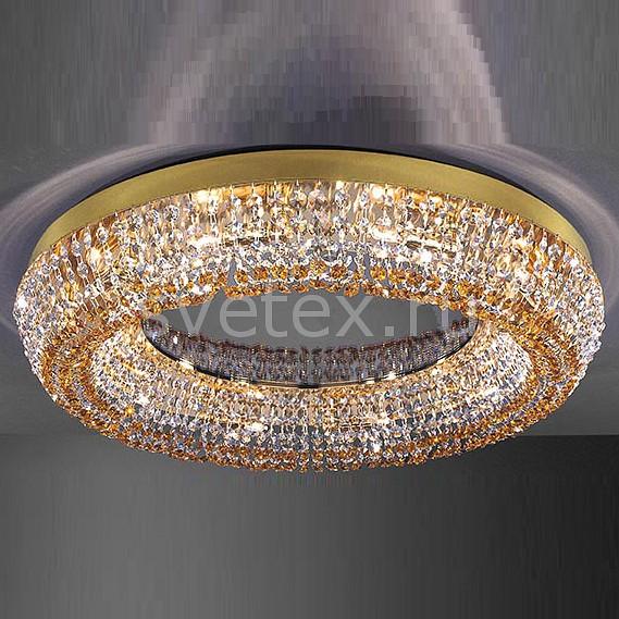 Накладной светильник La LampadaНакладные светильники<br>Артикул - LL_PL.1121-10.26,Бренд - La Lampada (Италия),Коллекция - 1121,Гарантия, месяцы - 24,Высота, мм - 140,Диаметр, мм - 600,Тип лампы - галогеновая ИЛИсветодиодная [LED],Общее кол-во ламп - 10,Напряжение питания лампы, В - 220,Максимальная мощность лампы, Вт - 40,Лампы в комплекте - отсутствуют,Цвет плафонов и подвесок - неокрашенный, топаз,Тип поверхности плафонов - прозрачный,Материал плафонов и подвесок - хрусталь,Цвет арматуры - золото,Тип поверхности арматуры - глянцевый,Материал арматуры - металл,Возможность подлючения диммера - можно, если установить галогеновую лампу,Форма и тип колбы - пальчиковая,Тип цоколя лампы - G9,Класс электробезопасности - I,Общая мощность, Вт - 400,Степень пылевлагозащиты, IP - 20,Диапазон рабочих температур - комнатная температура,Дополнительные параметры - способ крепления светильника к потолку – на монтажной пластине<br>