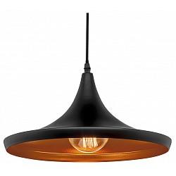 Подвесной светильник Loft itСветодиодные<br>Артикул - LF_LOFT1843_B,Бренд - Loft it (Испания),Коллекция - 1843,Гарантия, месяцы - 24,Высота, мм - 1500,Диаметр, мм - 360,Тип лампы - компактная люминесцентная [КЛЛ] ИЛИнакаливания ИЛИсветодиодная [LED],Общее кол-во ламп - 1,Напряжение питания лампы, В - 220,Максимальная мощность лампы, Вт - 60,Лампы в комплекте - отсутствуют,Цвет плафонов и подвесок - золото, черный,Тип поверхности плафонов - матовый,Материал плафонов и подвесок - металл,Цвет арматуры - черный,Тип поверхности арматуры - матовый,Материал арматуры - металл,Возможность подлючения диммера - можно, если установить лампу накаливания,Тип цоколя лампы - E27,Класс электробезопасности - I,Степень пылевлагозащиты, IP - 20,Диапазон рабочих температур - комнатная температура,Дополнительные параметры - способ крепления светильника к потолку – на монтажной пластине<br>