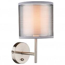 Бра GloboПолимерный плафон<br>Артикул - GB_15190W,Бренд - Globo (Австрия),Коллекция - Theo,Гарантия, месяцы - 24,Высота, мм - 260,Тип лампы - компактная люминесцентная [КЛЛ] ИЛИнакаливания ИЛИсветодиодная [LED],Общее кол-во ламп - 1,Напряжение питания лампы, В - 220,Максимальная мощность лампы, Вт - 40,Лампы в комплекте - отсутствуют,Цвет плафонов и подвесок - белый, серый,Тип поверхности плафонов - матовый, прозрачный,Материал плафонов и подвесок - полимер, текстиль,Цвет арматуры - никель,Тип поверхности арматуры - матовый,Материал арматуры - металл,Возможность подлючения диммера - можно, если установить лампу накаливания,Тип цоколя лампы - E14,Класс электробезопасности - I,Степень пылевлагозащиты, IP - 20,Диапазон рабочих температур - комнатная температура,Дополнительные параметры - способ крепления к стене - на монтажной пластине, светильник предназначен для использования со скрытой проводкой<br>