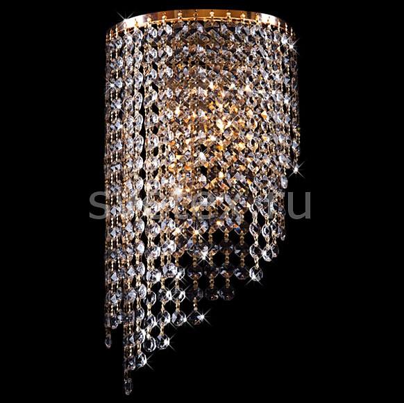 Фото Накладной светильник Eurosvet 3102 3102/2 золото/прозрачный хрусталь Strotskis